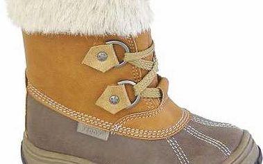 Peddy Dětské zimní kotníčkové boty - hnědé