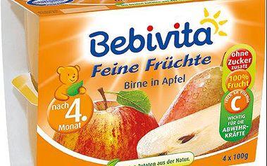 Expirace 6.3.2016: BEBIVITA Jablka s hruškami, 4x100 g
