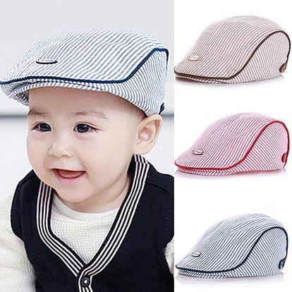 Dětský baret ve třech barvách