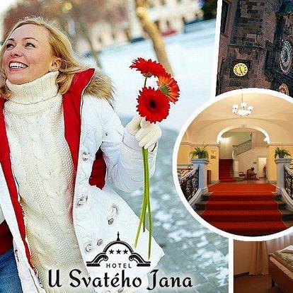 Pobyt pro dvě osoby v hotelu u Svatého Jana v centru Prahy. Romantické ubytování a bufetové snídaně.