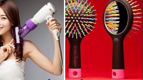 Jedinečný set na vlasy - speciální kartáč na snadné rozčesávání a difuzér na úpravu vlasů