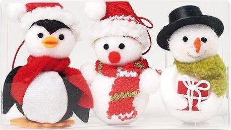 Sada vánočních figurek na pověšení 3 ks!