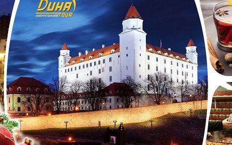 Sobotní jednodenní zájezd do vánoční Bratislavy s prohlídkou centra, návštěva vánočních trhů.