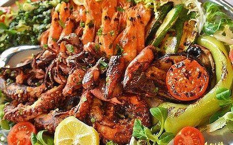 Grilované rybí variace v restauraci Deco