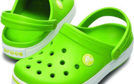 Crocs Dětské sandály Crocband II - zelené, EUR 19/21