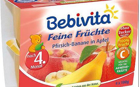Expirace 13.3.2016: BEBIVITA Jablka s broskvemi a banány, 4x100 g