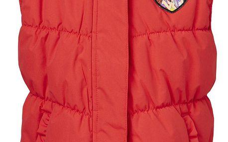 LEGO wear Dívčí vesta Jackie 630 - červená, 128 cm