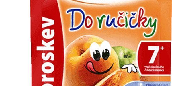 12x SUNÁREK Do ručičky broskev (90 g) - ovocný příkrm