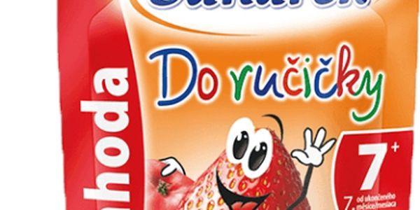 6x SUNÁREK Do ručičky jahoda (90 g) - ovocný příkrm
