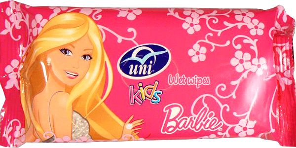 UNI Barbie antibakterialni kapesni vlhce. ubrousky (15 ks)