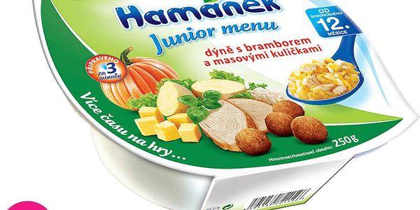 Hamánek Junior menu dýně s bramborem a masovými kuličkami (250 g)