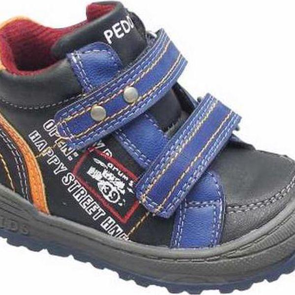 Peddy Chlapecké kotníčkové boty, černo-modré