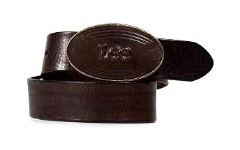 Lee - Pásek Buckle - tmavě hnědá, 90