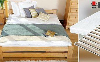 Masivní postele z přírodní borovice s…