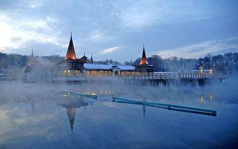Maďarsko, termální jezero Hevíz, luxusní wellness