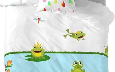 Mr. FOX Dětské povlčení Happy Frogs, 140x200 cm