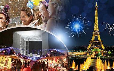 Paříž - SILVESTR! 3denní zájezd na otočku nebo 4denní s ubytováním pro 1 osobu + lahev sektu pro pár zdarma!