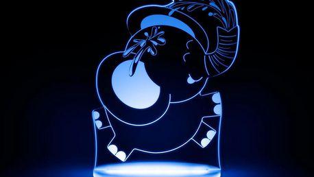Dětské LED noční světýlko Aloka Elephant - doprava zdarma!