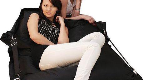 Beanbag | Sedací pytel 189x140 comfort s popruhy black
