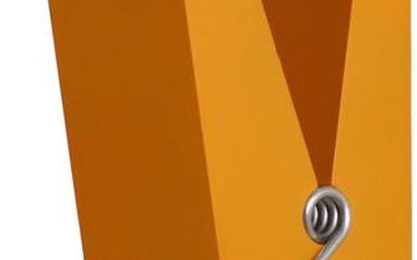 Oranžový kolík na zavěšení šatních doplňků Swab