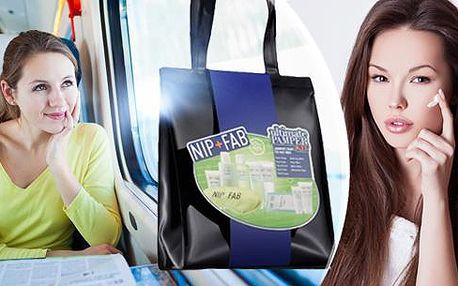 Limitovaná kolekce cestovního setu kosmetiky NIP + FAB včetně poštovného + cestovní taška a relaxační maska na oči!