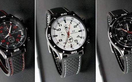 Sportovní pánské hodinky se skvělým designem ve 3 barevných variantách.Kvalitní přesný strojek Quartz, pevný silikonový pásek. Sportovně - elegantní provedení vhodné na běžné nošení i sportování.
