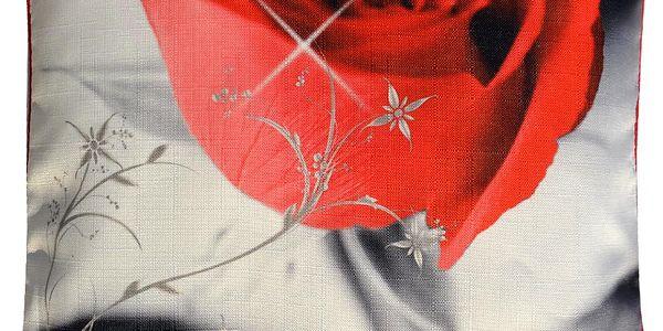 Polštář ROSETTE MyBestHome 45x45cm fototisk motiv růže Varianta: Povlak na polštář, 45x45 cm