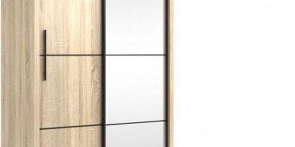 Šatní skříň s posuvnými dveřmi INOVA 120 dub sonoma