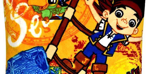 TOP CENA! POSLEDNÍ KUSY!! DISNEY polštářek pro děti 40x40cm mikrovlákno vzor Jake a piráti, oranžová, Essex Varianta: Povlak na polštář, 40x40 cm