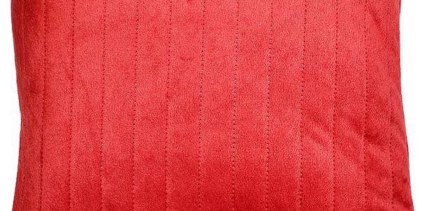Luxusní mikrovláknový povlak na polštář KAIRO DESIGN červený, 40x40cm
