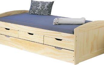 Rozkládací postel Moon, 98x195,5x63 cm - doprava zdarma!