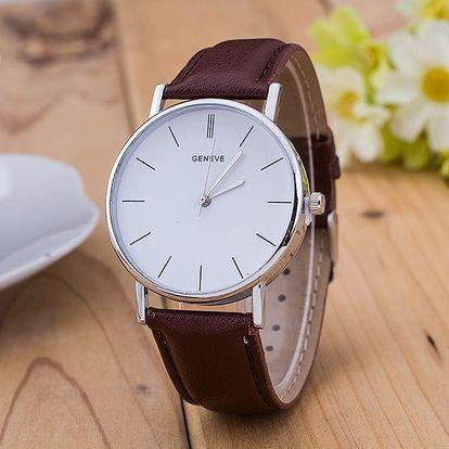 Unisex hodinky s jednoduchým ciferníkem