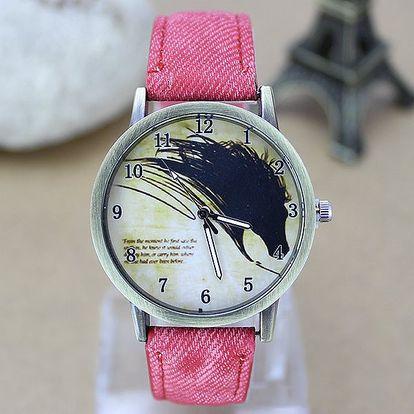 Unisex hodinky s koňskou hlavou