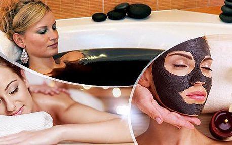 120min. regenerační balíček pro ženu z lůna matky přírody! Maska z černého jílu, rašelinová koupel, masáž dle výběru!