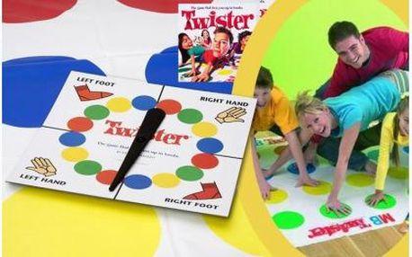Velmi oblíbená společenská hra pro celou rodinu Twister. Ideální hra pro rodinné večery nebo na párty s přáteli. Užijte si večer plný zábavy!