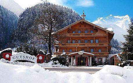 Neomezený wellness a polopenze v horském Hotelu Gutshof**** v tyrolských Alpách