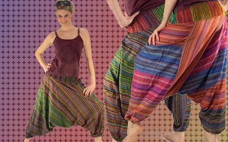Etno kalhoty z Indie ze 100% bavlny