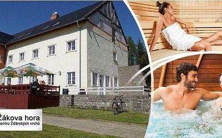 3 dny pro dva v hotelu Žákova hora na Vysočině!! Polopenze, privátní whirlpool, infrasauna, solná terapie, fittness!! Vysočina je plná přírodních krás, památek, zábavy a nabízí sportovní vyžití!!