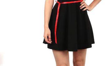 Moderní pruhované šaty v retro stylu tmavě růžová