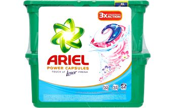 Ariel Power capsules Touch of Lenor fresh gelové kapsle na praní prádla 64ks