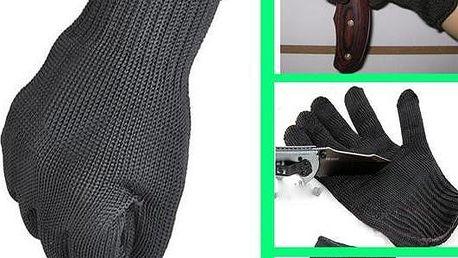 Kevlarové ochranné pracovní rukavice černé