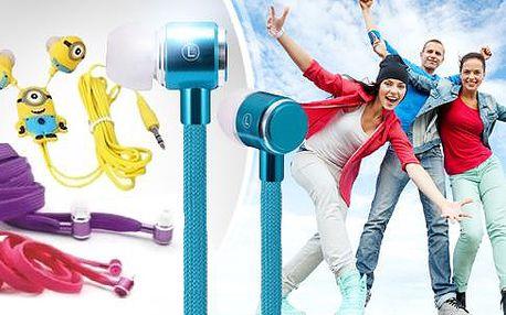Zábavná sluchátka s mimoněm, nebo originální tkaničková sluchátka včetně poštovného.