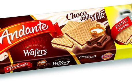Sedita Andante Plněné oplatky s čokoládovou a mléčnou náplní 130g