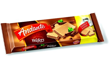 Sedita Andante Plněné oplatky s čokoládovou náplní 130g