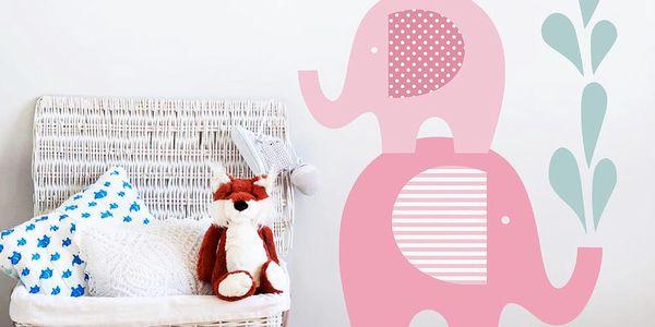 Dekorativní samolepka na zeď Sloní sprcha
