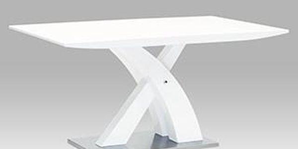 jídelní stůl 150x90, vysoký lesk bílý ht-651 wt