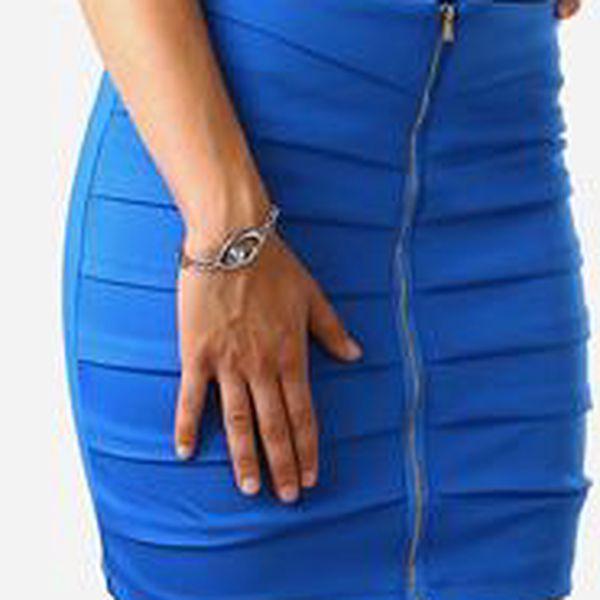Zeštíhlující sukně se zipem tmavě modrá