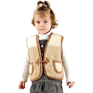 Dětská vlněná vesta Furry XS!