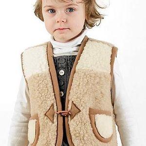Dětská vlněná vesta Furry M!