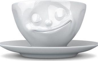 Šťastný hrnek na kávu, bílý